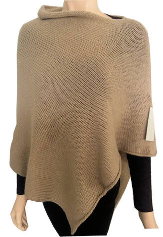 wool country camel angora poncho